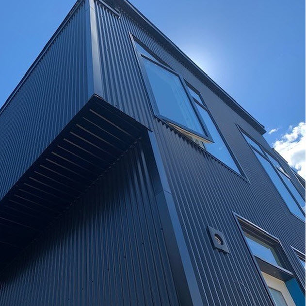 Classic Exteriors Corrugated Steel project