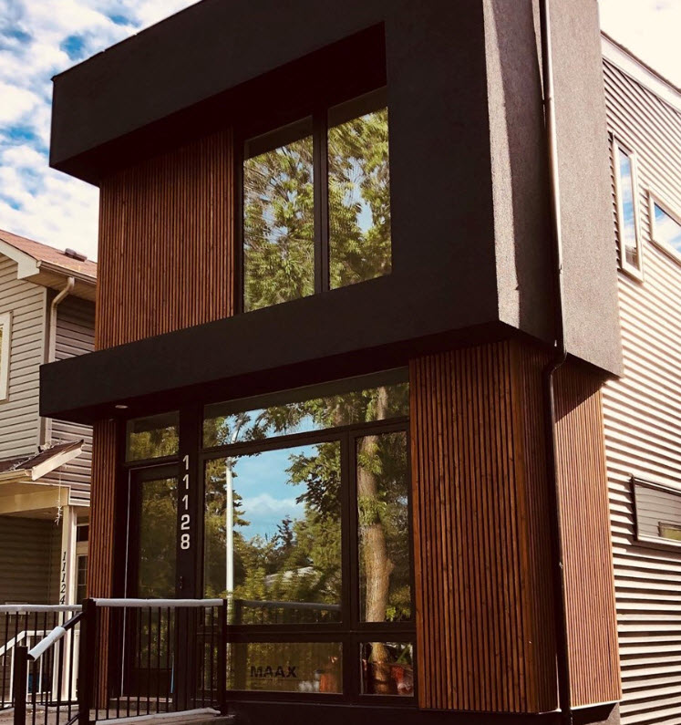 classic exterior siding and open joint cedar project