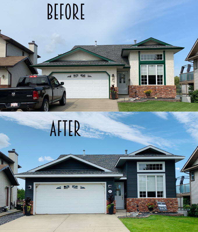 classic exterior before and after